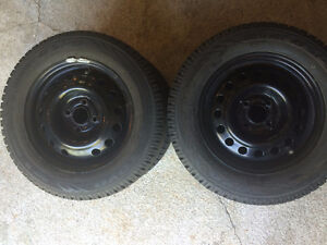 4 Winter Tires and Rims - 175/70R14
