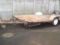Caravan chassis flat bed car trailer - good tyres - Telford, Shropshire