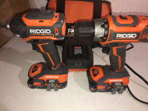 Ridgid Drill and Impact only used 3-4 times