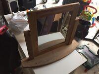 Oak Furniture Land Rustic Oak Dresser Mirror