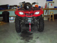 2014 Suzuki Kingquad 400 4x4 FSI with 3000 pound WARn winch