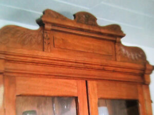 BOOKCASE/DISPLAY CABINET Antique Victorian