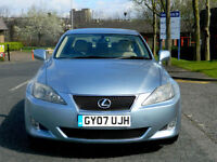 2007 07 Lexus IS 220D 2.2 TD 4dr SE WITH FSH+LEATHER+SATNAV+R/CAM+