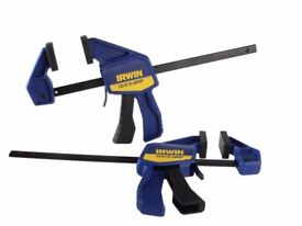 IRWIN® Quick-Grip® Mini Bar Clamp 150mm (6in), Twin Pack Ideal xmas gift stocking filler