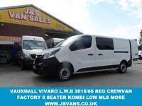 2015 65 VAUXHALL VIVARO LWB DIESEL CREWVAN 6 SEATER LATE 2015 65 REG LASTEST MOD