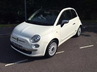 Fiat 500 1.2 Lounge White, MOT June 2017