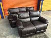HARVEYS BEL-AIRE 3+2 seater reclining sofa set ex display