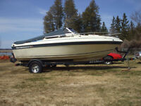 87 Thundercraft 190 I/O with newer trailer
