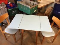 1960s Formica fold dinning table with 2 chairs ! Ideal upcycle project !