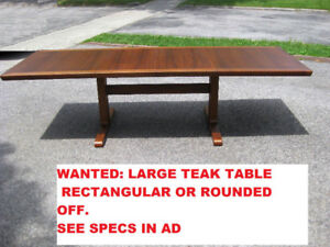 Attention !  Large MCM Teak or Rosewood Dining Table