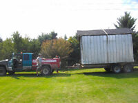 Dump truck and trailer available to move anything .