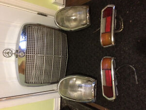 1964 Mercedes 220 grill , euro headlamps and tailamps
