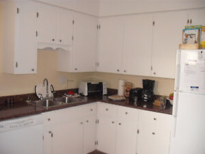 Large 3 bedroom with den - renovated and shows well,  hardwood
