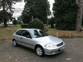 1999 Honda Civic 1.4 Auto Fusion Ltd Edn 5 Door Hatchback Silver
