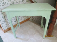 Old painted Pine Country farm table, small size