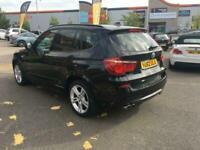 2012 BMW X3 3.0d XDRIVE30D M SPORT,PAN ROOF,CREAM LTH,19s,DAB,PRO MEDIA.VISIBILI