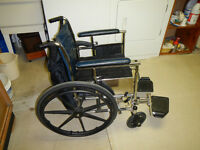 Wheelchair with assessories