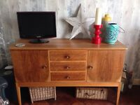 BEAUTIFUL GORDON RUSSELL OF BROADWAY VINTAGE RETRO MID CENTURY BLEACHED WALNUT SIDEBOARD