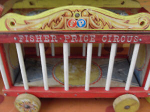 Vintage 1960s Wood Fisher Price Circus Collectible Toy