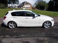 BMW 1 SERIES 2.0 116D M SPORT AUTO ++ONLY £30 PER YEAR TAX++ (white) 2012