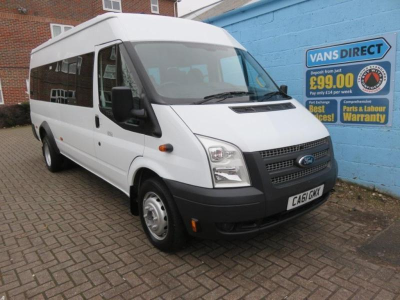ford transit t430 2 2 tdci 135 17 seater minbus low mileage lwb diesel 2012 61 in southampton. Black Bedroom Furniture Sets. Home Design Ideas