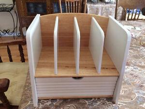 Wood Mail/File DeskTop Organizer