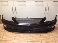 Lexus is200 black 2o2 front bumper TTE TRD AERO SPORT 98-05 breaking spares is 200 is300 bodykit kit