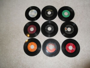 Classic 45 RPM records from the 60's
