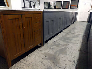 Hardwood constructed Vanities - open box / scratched