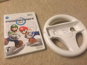 Mario Kart and Steering wheel for wii