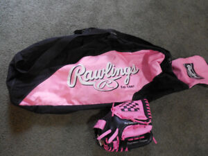 T-Ball glove and bag girls 10inch