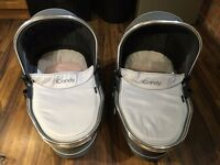 Icandy Peach 3 Twin Carrycots