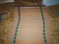 3 REAL WOOD CUSTOM MADE BLINDS BY SHADE-O-MATIC FOR BAY WINDOW