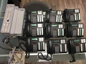 Système téléphonique NORTEL et 9 téléphone  T-7316E