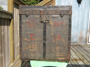 Unusual Small Steamer Trunk from the 1800's (German?)
