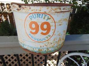 PURITY 99 25 LB GREASE CAN 1961GREAT GARAGE ART