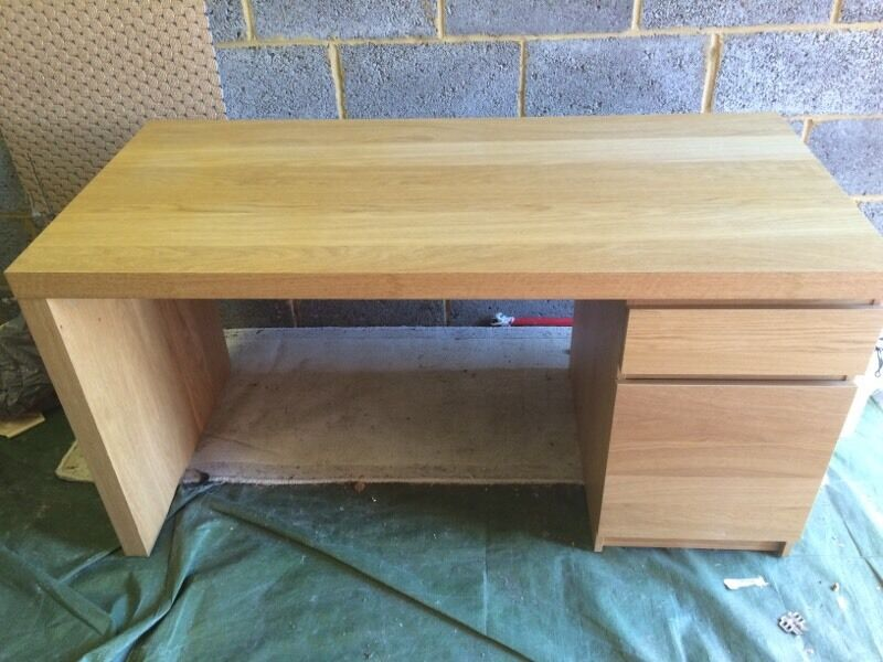 IKEA Malm Desk In Oak Veneer
