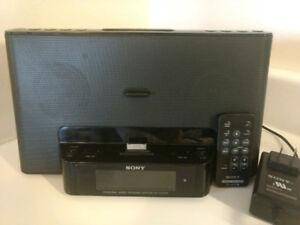 Sony radio, alarm clock, Audio In player With Remote-Price Firm