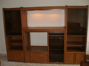 Palliser oak wall unit