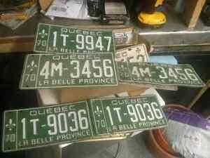 Vintage Quebec Licence plates for sale