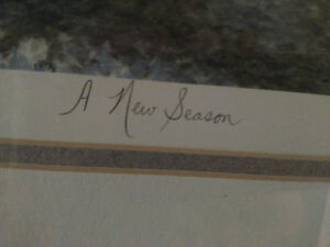 """John Newby autographed and framed print """"A New Season"""" London Ontario image 4"""