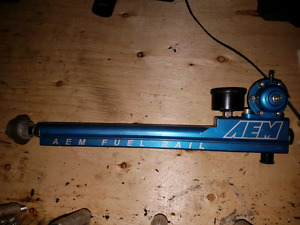 AEM fuel rail, fuel pressure regulator and gauge