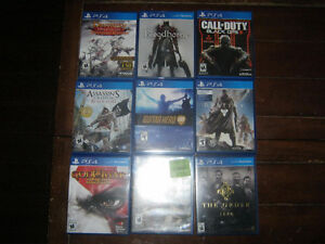 PS4 with 2 controllers and 12 games + guitar hero live