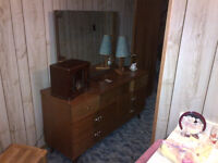 Large Dresser with attached mirror