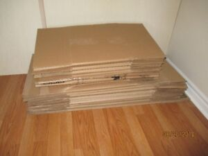 16 Moving Boxes - USED - Made in Canada