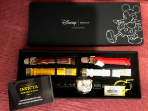 New Invicta Women's Disney Limited Edition Leather Watch Extra S