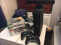 Xbox 360 with Xbox Kinect and games