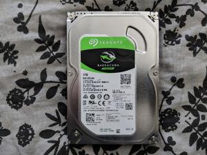 """SEAGATE BARRACUDA 1TB HDD 3.5"""" DESKTOP"""