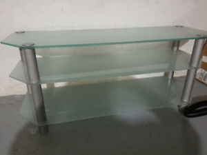 TV Stand - Frosted Glass
