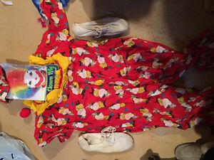 Child's clown Halloween costume.